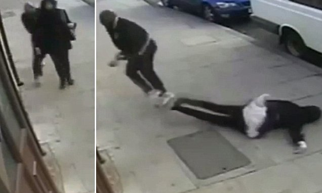 Shocking images of a woman in a hijab being attacked from behind and beaten unconscious reveal the reality of an increase in hate crime in London. Young Muslim women today described how they had been attacked, spat on and verbally abused in the street. The footage, shot in Plaistow, is just one example of Islamophobic attacks in the capital which Scotland Yard says almost doubled in the 12 months to June, from 406 to 800. The total number of racist and religious hate crimes across London rose by almost 28 per cent last year, from 9,965 reported incidents to 12,749. Victims say the increase is being fuelled by unrest and terrorists in the Middle East. Some of the victims speak out in a documentary Inside Out: Behind The Veil, being broadcast on BBC1 tonight.