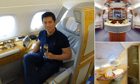 Sam Huang flew around the world in Emirates first class