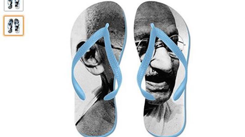 Amazon's Mahatma Gandhi flip-flops igniteanger