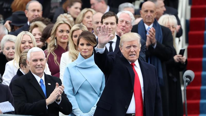 US welcomes her 45th president DonaldTrump