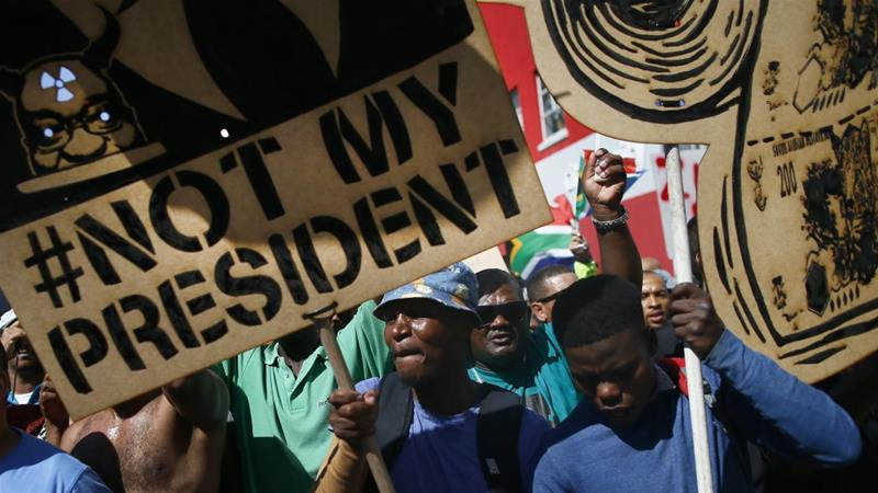 Enough is enough as thousands of protesters came out demanding Zuma stepsdown