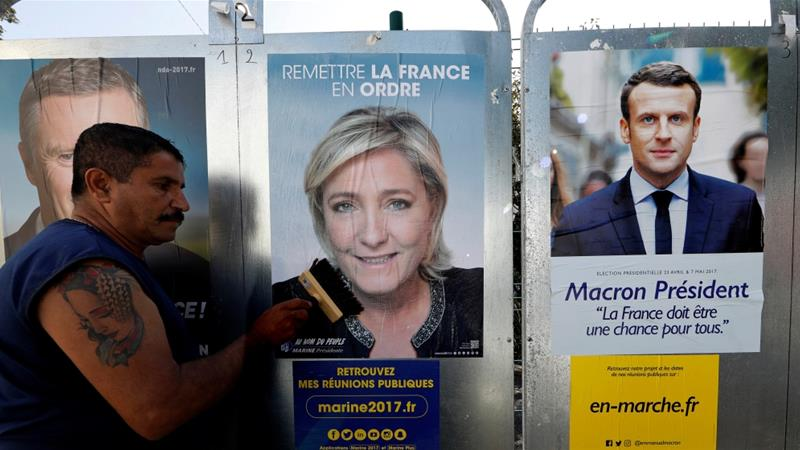 The truth and past of Marine Le Pen and EmmanuelMacron