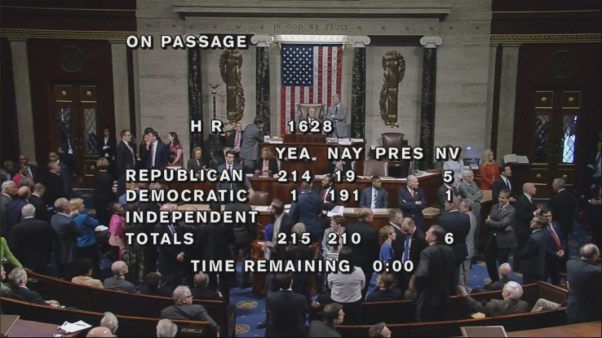 Obamacare: US Congress voted and pass into bill repealing of the Obamacare healthpolicy