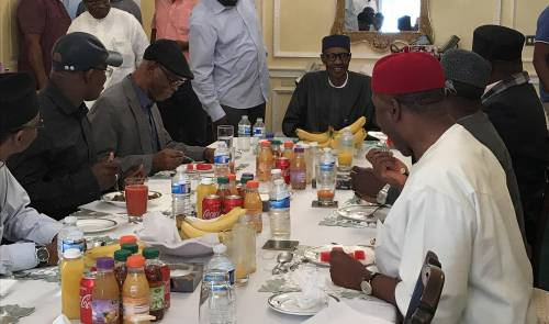 Ailing President Buhari Met With APC Governors In London