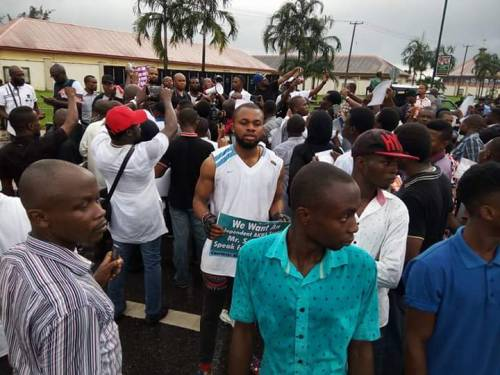 Groups protest in Akwa Ibom of corruption and lack of concentration of Emmanuel Udomadministration