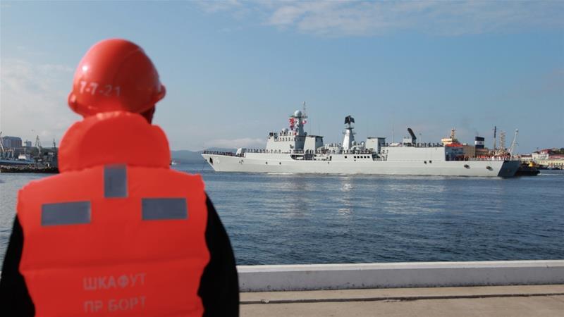 Chinese-Russian naval drills begin off NorthKorea