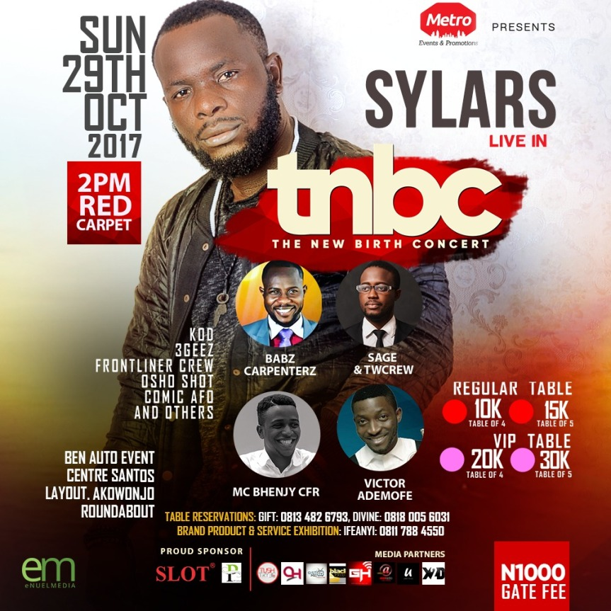 The New Birth Concert Official Press Release ( @iamsylars | #TNBConcert2017 )