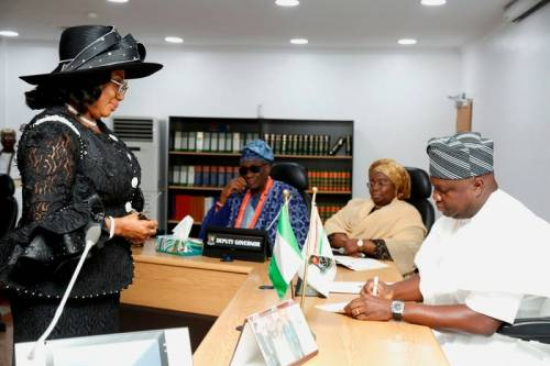 Where is justice? A new chief judge resumes and presides after Gov Ambode swore  Justice Okein