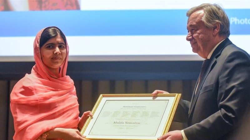 Malala Yousafzai named youngest UN Messenger ofPeace