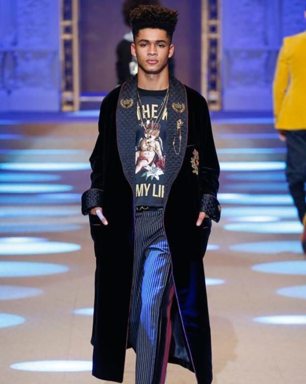 David Oyelowo's son Asher makes Runway Debut for Dolce &Gabbana