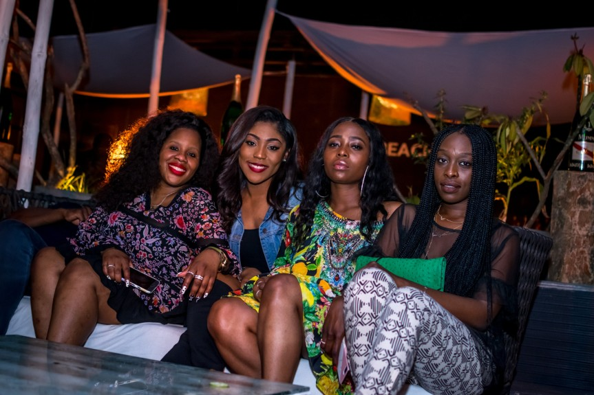 Spotted: Genevieve Nnaji, Tiwa Savage, John Boyega, Ojy Okpe, Dayo Okeniyi at the Exclusive Launch of 'Beach Is Better' inLagos!