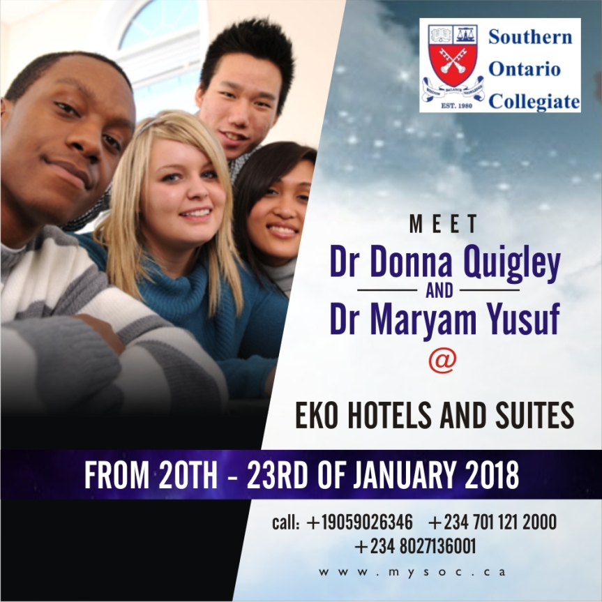 Scholarship | Meet Representatives of Southern Ontario Collegiate & Get All Your Questions Answered | January 20th –23rd