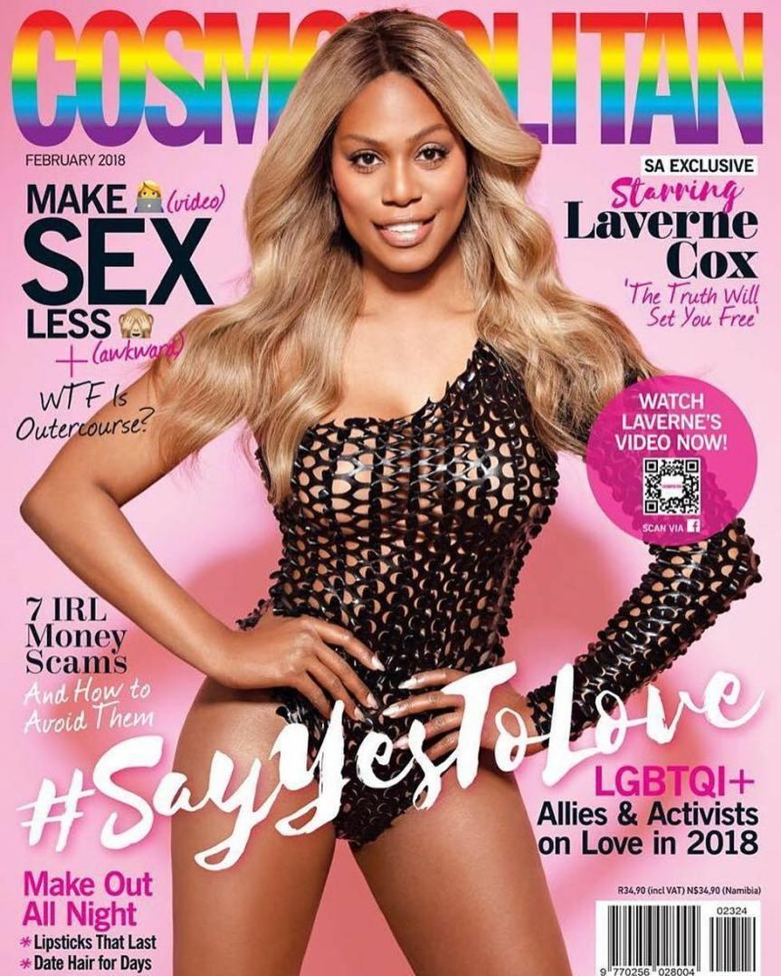 Laverne Cox becomes Cosmopolitan Magazine's First Transgender CoverStar