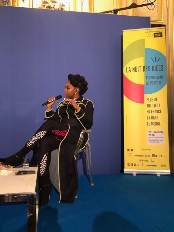 Chimamanda Ngozi Adichie talks Immigration, Donald Trump, Nigeria at France's Night ofIdeas