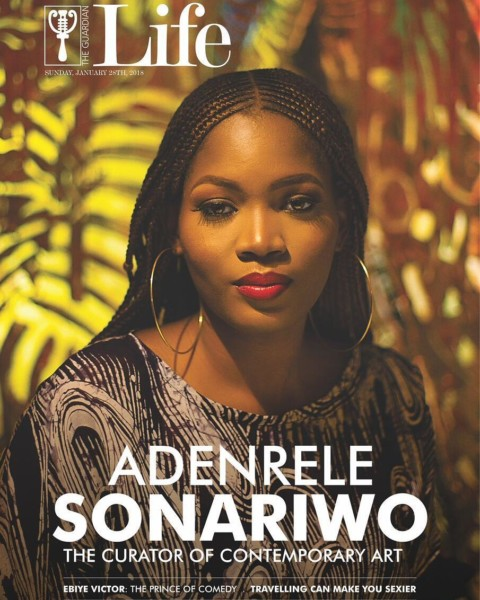The Curator of Contemporary Art! Adenrele Sonariwo covers Guardian LifeMagazine