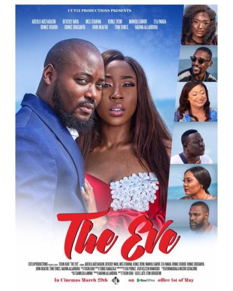 "Must Watch Trailer! Beverly Naya, Adeolu Adefarasin, Meg Otanwa & Mawuli Gavor star in ""TheEve"""