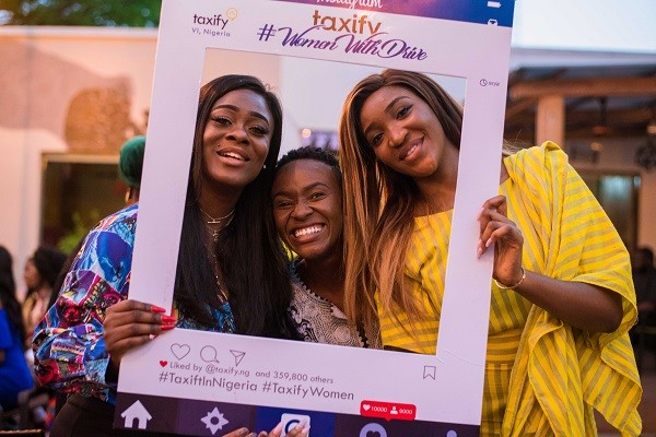 Celebrating #WomenwithDrive! Uriel Oputa, Adenike Oyetunde & Idia Aisien at Taxify's International Women's DayCelebration